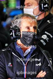 Alain Prost (FRA) Alpine F1 Team Non-Executive Director. 17.04.2021. Formula 1 World Championship, Rd 2, Emilia Romagna Grand Prix, Imola, Italy, Qualifying Day.