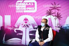 Stefano Domenicali (ITA) Formula One President and CEO - Miami Grand Prix announcement. 18.04.2021. Formula 1 World Championship, Rd 2, Emilia Romagna Grand Prix, Imola, Italy, Race Day.