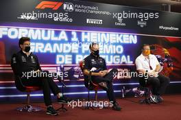 The FIA Press Conference (L to R): Toto Wolff (GER) Mercedes AMG F1 Shareholder and Executive Director; Christian Horner (GBR) Red Bull Racing Team Principal; Zak Brown (USA) McLaren Executive Director. 30.04.2021. Formula 1 World Championship, Rd 3, Portuguese Grand Prix, Portimao, Portugal, Practice Day.