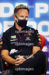 Christian Horner (GBR) Red Bull Racing Team Principal in the FIA Press Conference. 30.04.2021. Formula 1 World Championship, Rd 3, Portuguese Grand Prix, Portimao, Portugal, Practice Day.